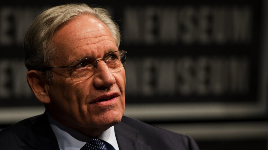 Bob Woodward, pictured in 2012, describes a sense of chaos within the Trump administration in his 2018 book, <em>Fear</em>.