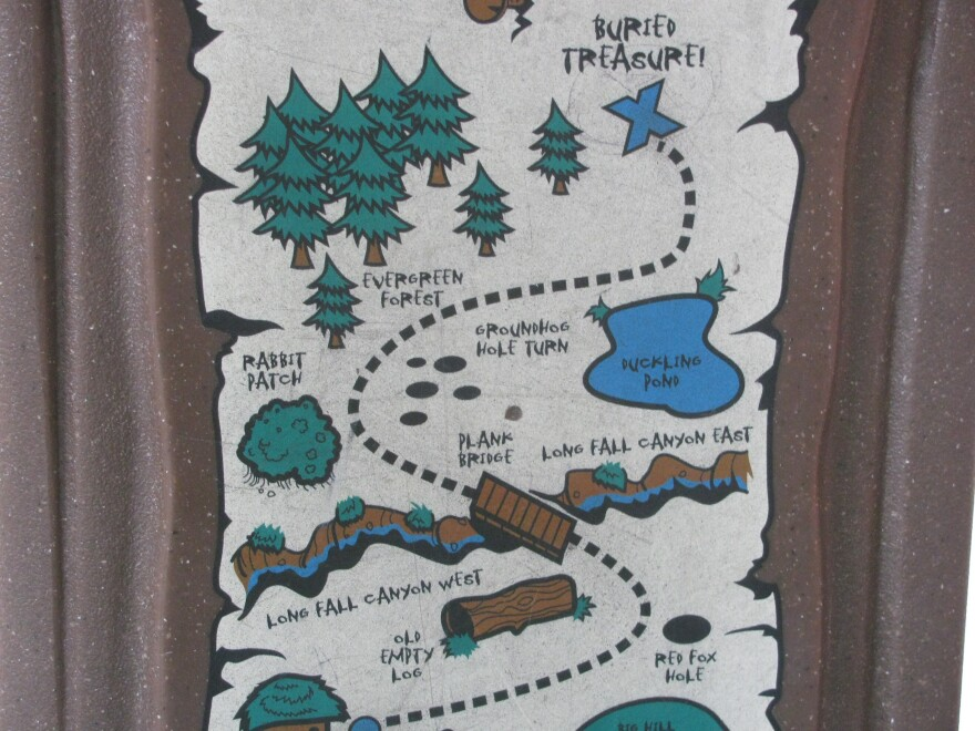 Author W. C. Jameson says finding treasure may not be as easy as this map suggests.