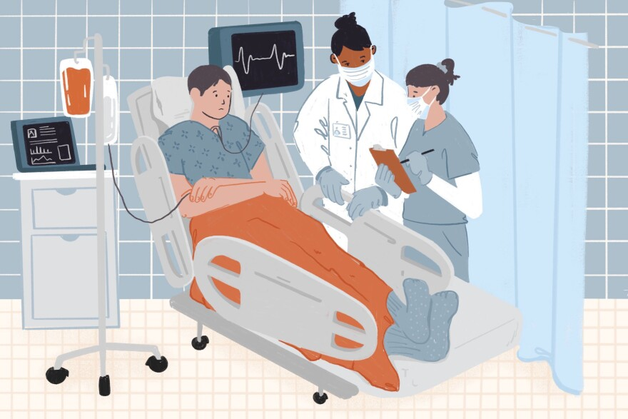 There are no national regulations or guidelines for determining which patients receive treatment when hospitals are overwhelmed in a pandemic. Some hospitals have scrambled to develop or revise their triage policies during the pandemic.