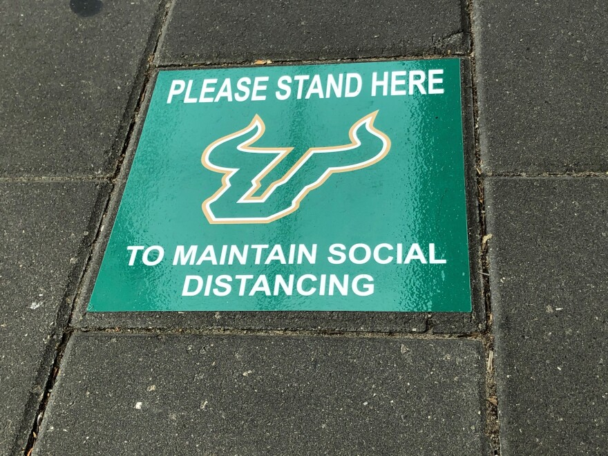 Social Distance marker at USF