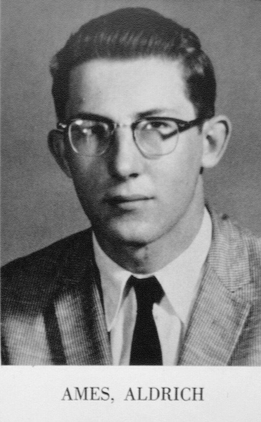 A CIA archival portait of Ames. As a member of the agency's Department of Operations responsible for Soviet counterintelligence he became one of the highest-ranking and most damaging spies in U.S. history.