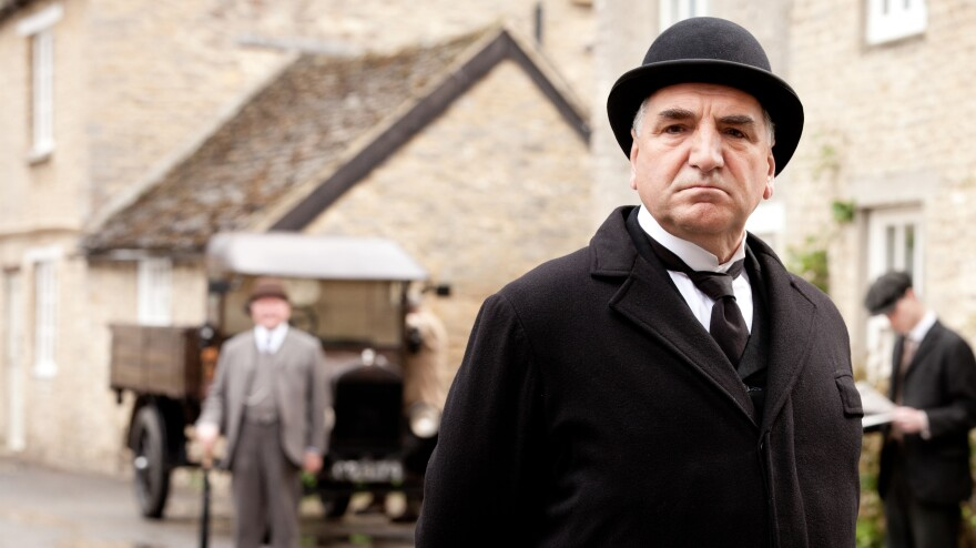 Jim Carter as Mr. Carson in <em>Downton Abbey.</em> The third season premiered on PBS Sunday.