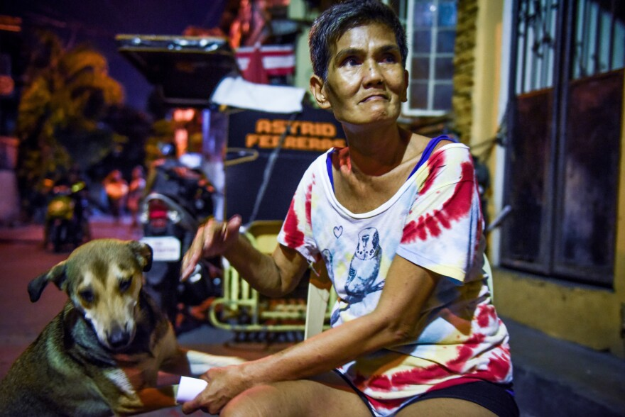 Lilibeth Diego, 53, a laundry woman who is married with three children, started using methamphetamine, or shabu, when she was 17. She recently turned herself in to authorities because she feared she could be killed under President Rodrigo Duterte's war on drugs. She says she has been clean for the past several weeks.