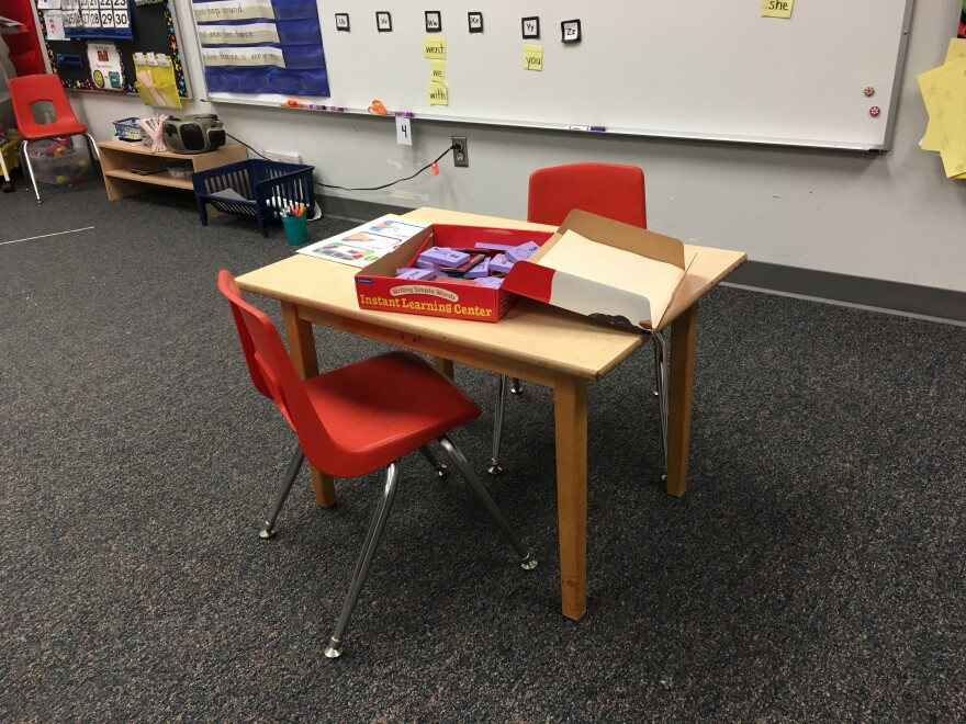 empty chairs and desk