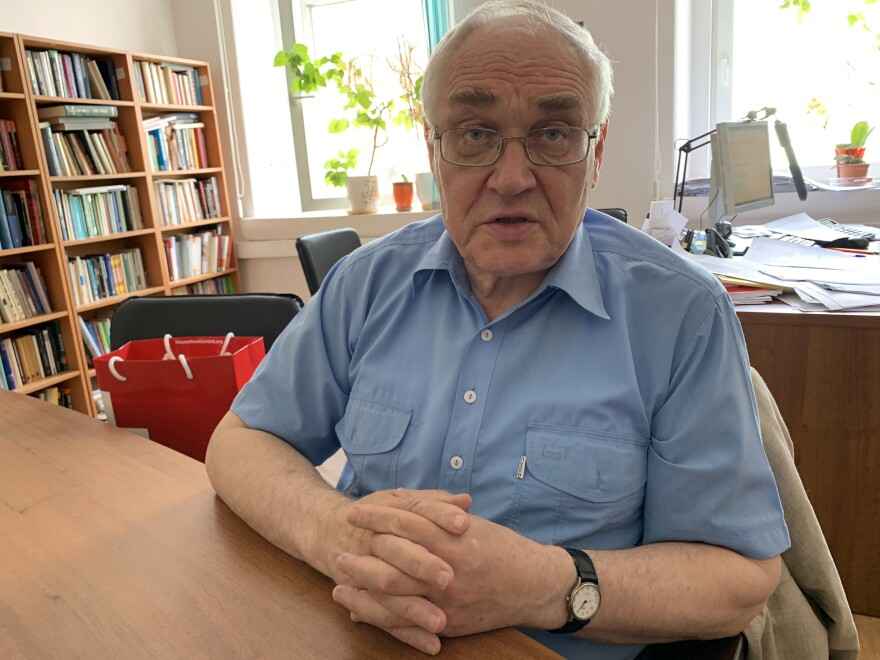"""""""There's been a quiet rehabilitation of Stalin on the part of the government,"""" says Lev Gudkov, a sociologist who heads Russia's Levada Center, an independent polling agency."""