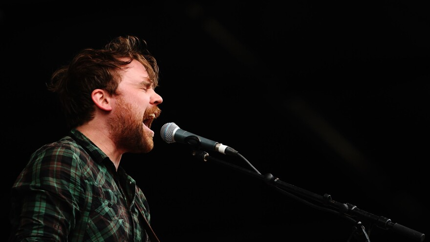 Scott Hutchison performs with Frightened Rabbit in Australia in 2010.