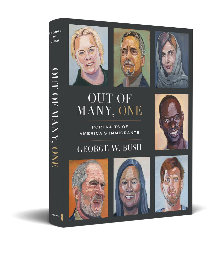 Former President George Bush's next book will feature portraits he's painted of 43 immigrants, from Dallas Mavericks great Dirk Nowitzki to Gilbert Tuhabonye, a legendary runner from Burundi.