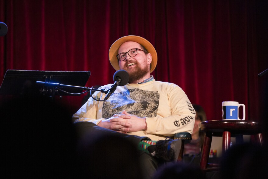 Dan Deacon appears on <em>Ask Me Another</em> at the Bell House in Brooklyn, New York.