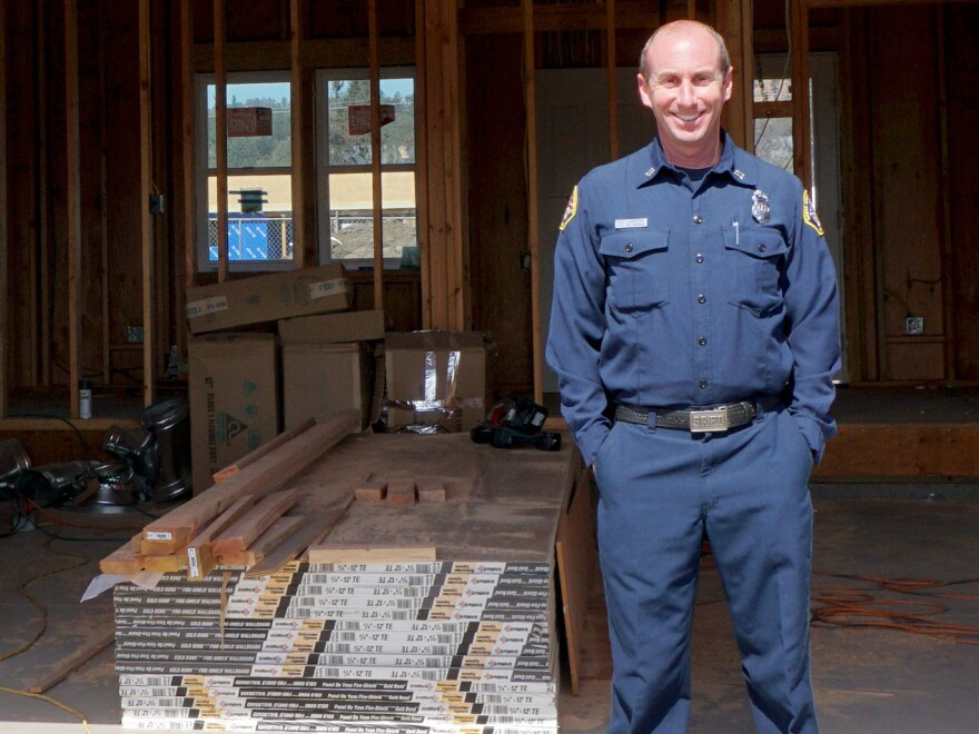 Nearly a year after the Tubbs Fire, Paul Lowenthal's rebuild is finally nearing completion — this time with more fire-resistant materials.