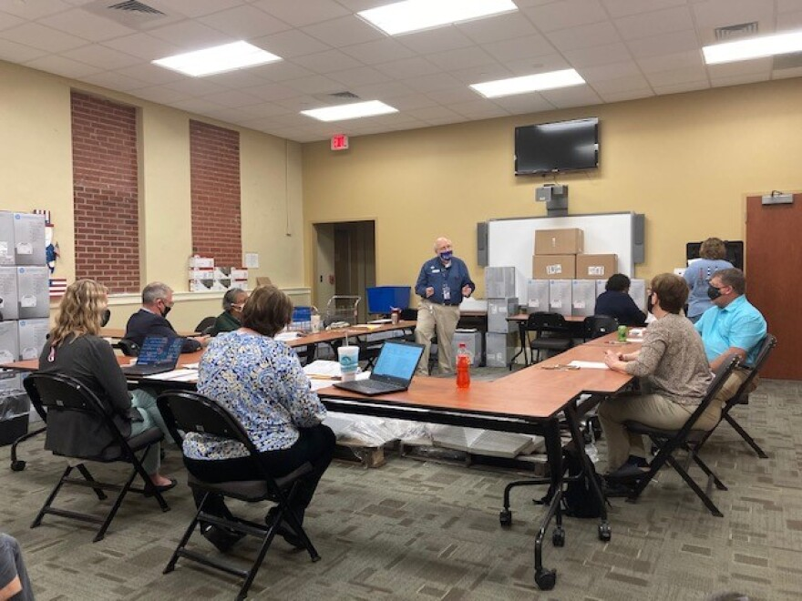 Cabarrus Board of Elections meeting, small group