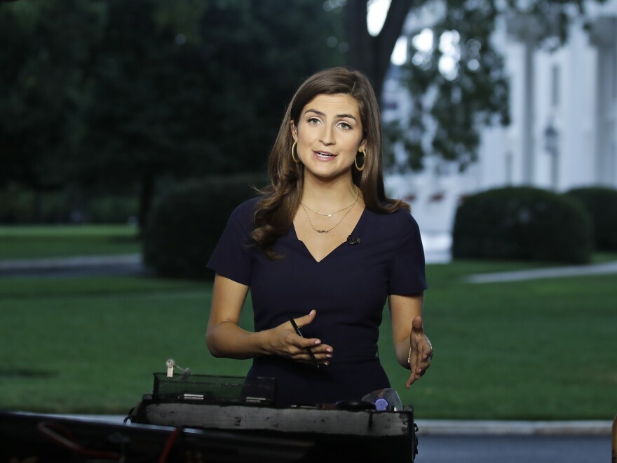 At a photo-op on Wednesday, CNN White House correspondent Kaitlan Collins asked the president a series of questions about his former lawyer Michael Cohen and Russian President Vladimir Putin.