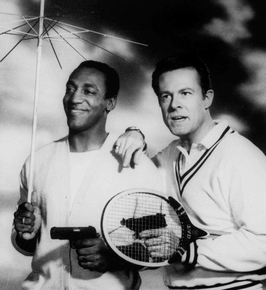 Bill Cosby and Robert Culp co-starred as a team of American agents in the 1965 series <em>I Spy</em>.