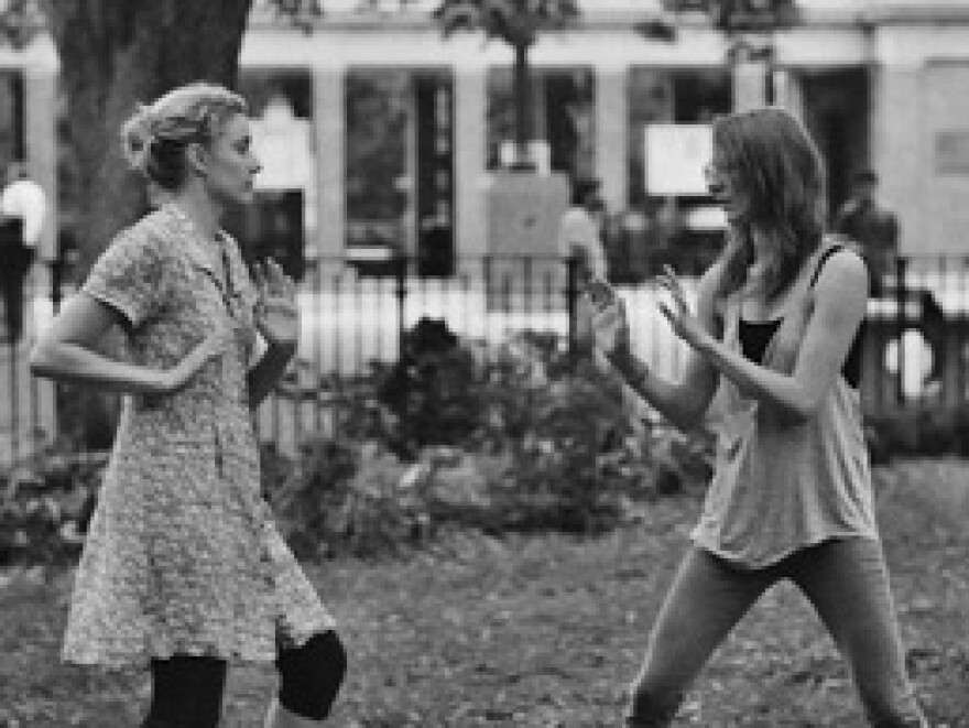 In <em>Frances Ha,</em> the title character (Greta Gerwig, left) and her best friend, Sophie (Mickey Summer), struggle to find the footing of their friendship post-college.