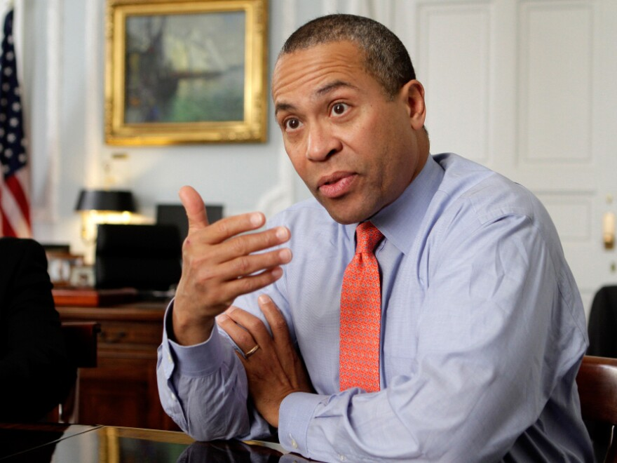 Massachusetts Gov. Deval Patrick (D) says the bill the state House passed on Tuesday to weaken municipal employees' ability to bargain over their health care is not as extreme as anti-union efforts in states like Wisconsin.