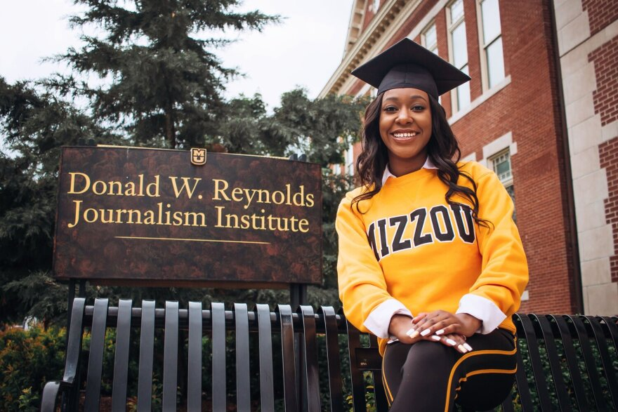 We Live Here Co-Host Lauren Brown at the Donald W. Reynolds Journalism Institute at Mizzou