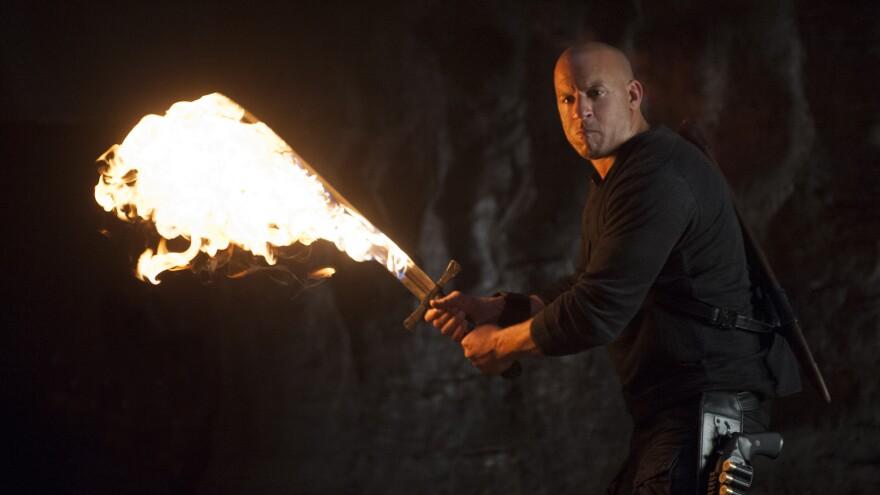 Vin Diesel as Kaulder in a scene from <em>The Last Witch Hunter.</em>
