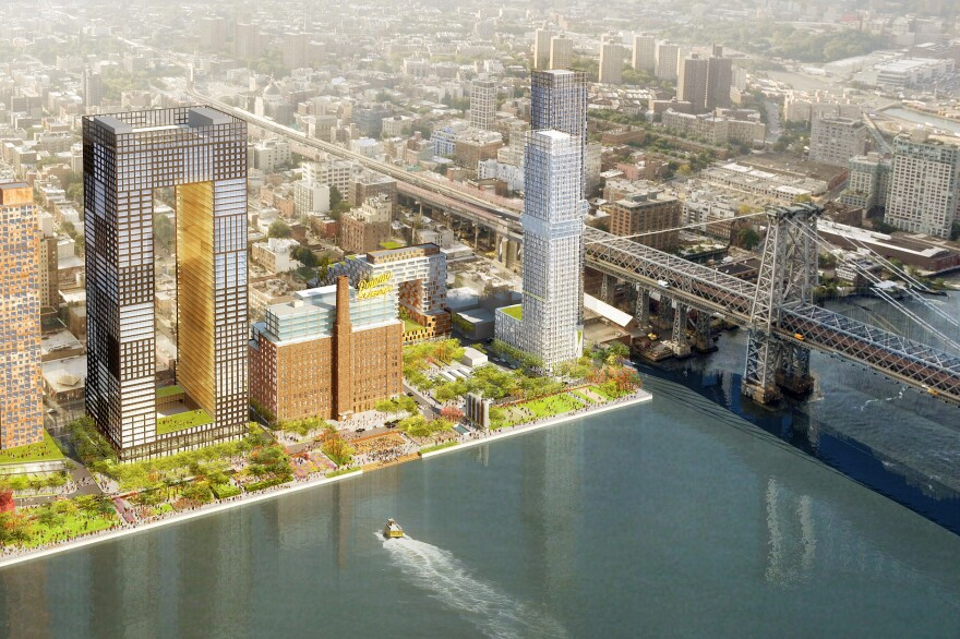The Domino Sugar development on the Brooklyn waterfront was redesigned after Sandy to make it more resilient to flooding.