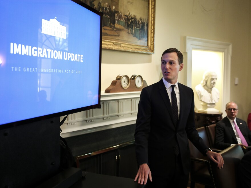 Kushner presents the first version of President Trump's immigration plan at the White House on July 16, 2019.