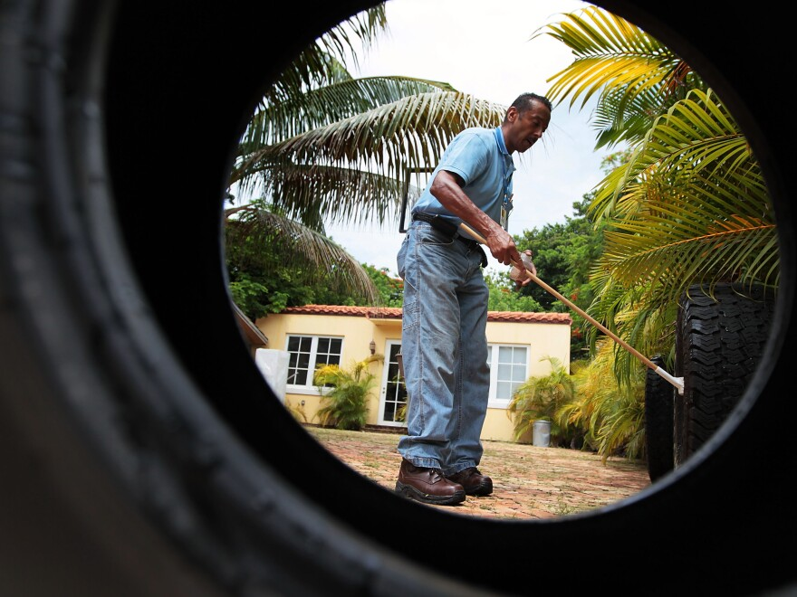 Sporadic dengue fever outbreaks in Florida in 2009 and 2010 spurred mosquito control efforts in Key West and Miami Beach, shown here. The same mosquito that carries dengue, <em>Aedes aegypti</em>,<em> </em>can transmit Zika.