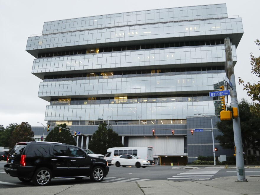 Purdue Pharma headquarters in Stamford, Conn, shown last week. The company, which makes OxyContin and other drugs, filed court papers in New York on Sunday seeking Chapter 11 bankruptcy protection.