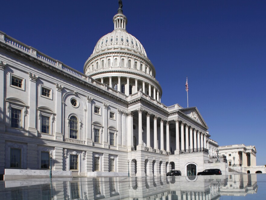 """The U.S. Capitol. Will lawmakers avoid the """"fiscal cliff"""" or go over?"""