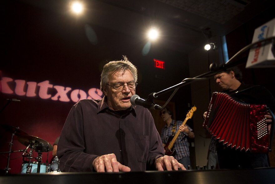 Terry Allen performs in studio at KUTX in Austin.
