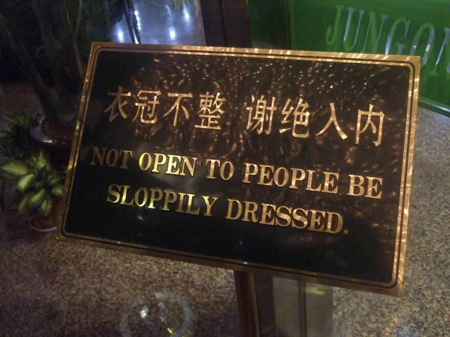 When restaurants and night spots adopt dress codes, they are often vague in their wording but specific in their enforcement.