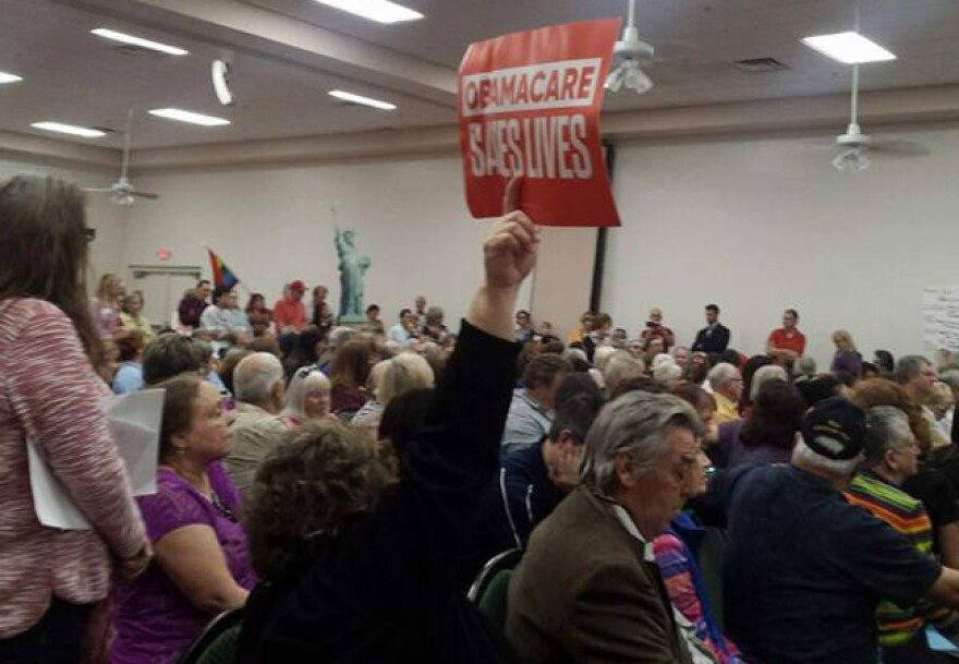 About 200 people gathered to tell Rep. Bilirakis how they feel about him wanting to repeal and replace the Affordable Care Act
