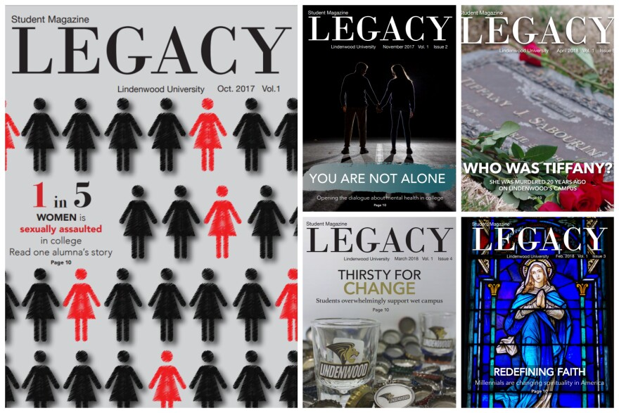 The Legacy magazine began publication last fall. The magazine has won numerous awards including 16 awards from the Missouri College Media Association Conference.