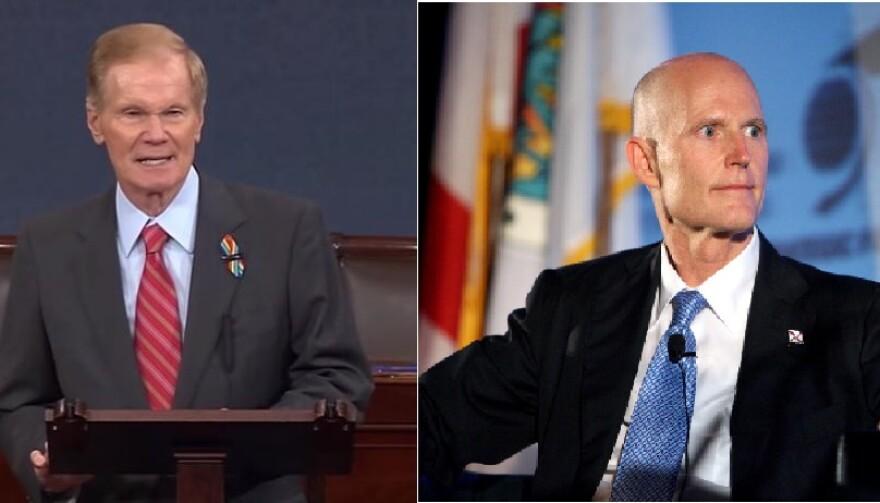 Senator Bill Nelson and Governor Rick Scott.
