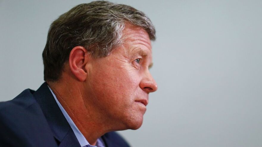 Rep. Charlie Dent, R-Pa., speaks during an interview at his campaign office in Allentown in November 2016.
