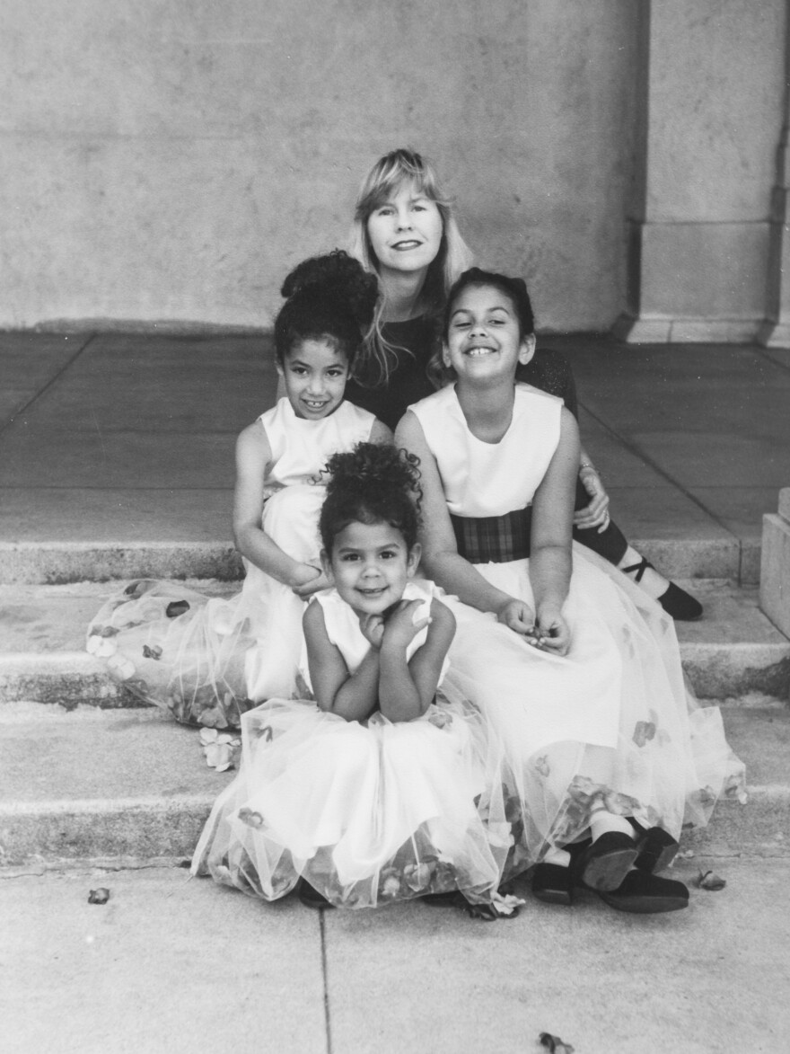 Susan Straight with her young daughters.