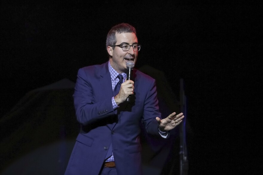 comedian John Oliver performs at the 11th Annual Stand Up for Heroes benefit in New York. A West Virginia judge has dismissed a lawsuit filed against HBO host John Oliver brought by coal company Murray Energy.