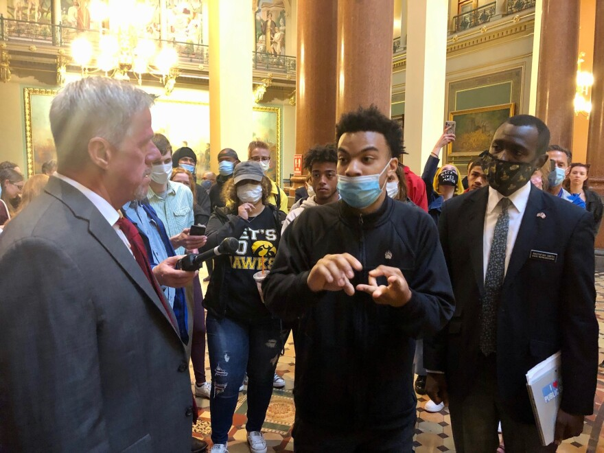 black lives matter at the iowa capitol