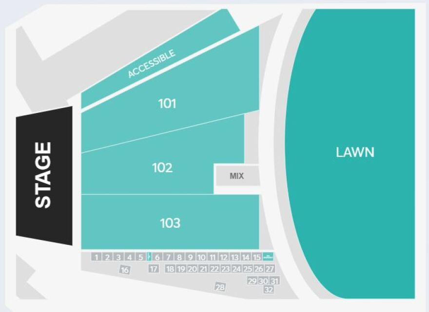 Live Nation seating chart