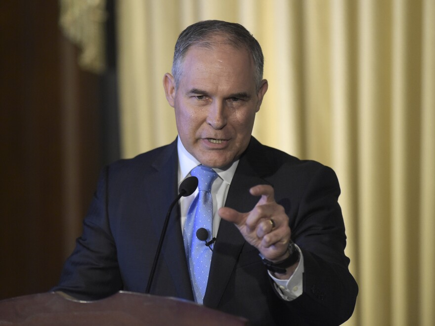 """We are moving forward with an open and robust review of emissions standards,"" Environmental Protection Agency Administrator Scott Pruitt says."