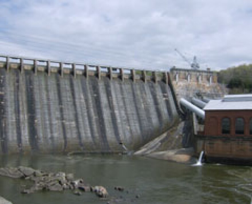 An Alcoa dam on Badin Lake.