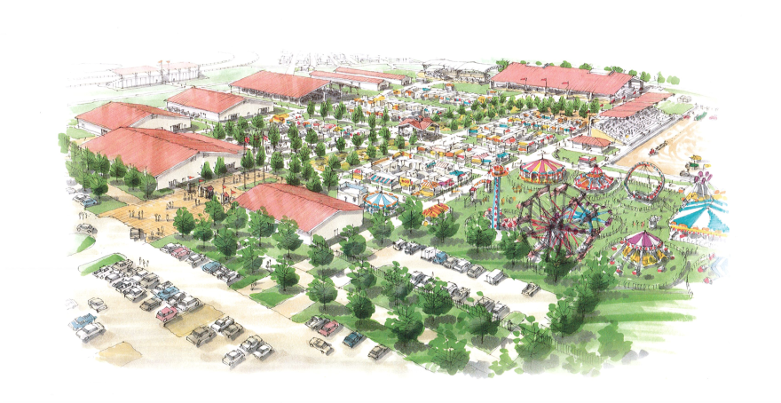 A drawing of the new Montgomery County Fairgrounds site in Jefferson Twp.