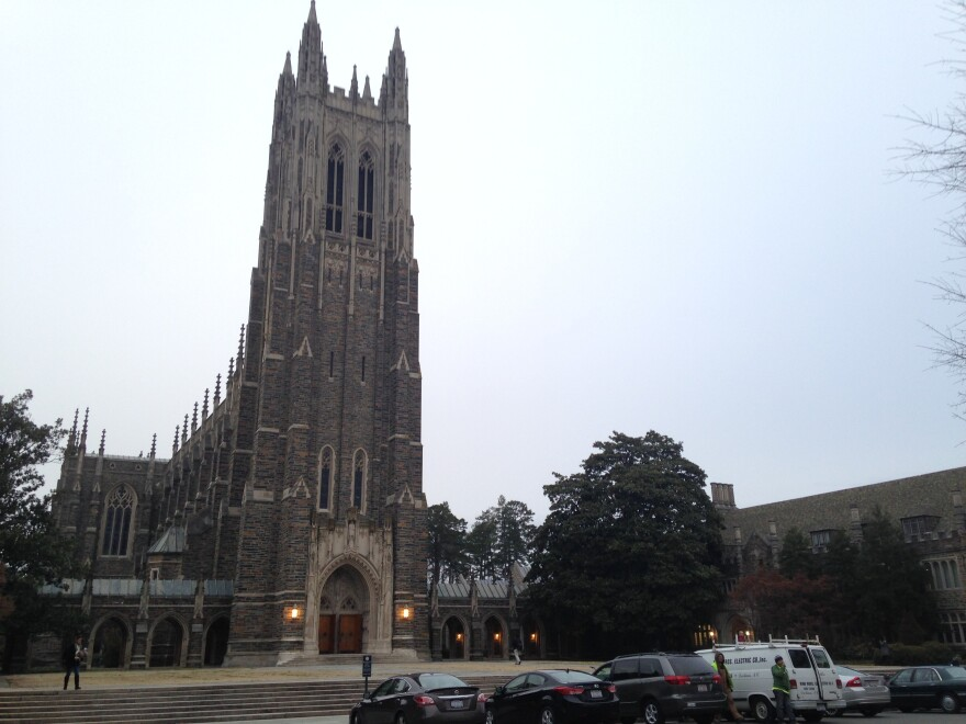 Duke University's Muslims students will issue their call to prayer today outside the Duke Chapel in Durham, N.C. On Thursday, the university reversed course on allowing the traditional <em>adhan</em> from the chapel's bell tower.
