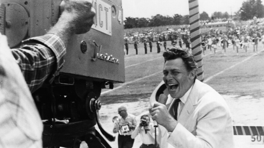 Andy Griffith as a pre-reality TV star turned populist in <em>A Face in the Crowd.</em>