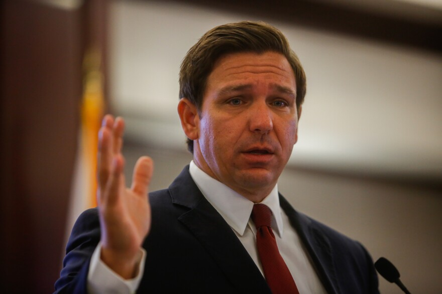 Gov. Ron DeSantis speaks during the AP Florida Legislative Planning Session on Oct.29, 2019 in Tallahassee.