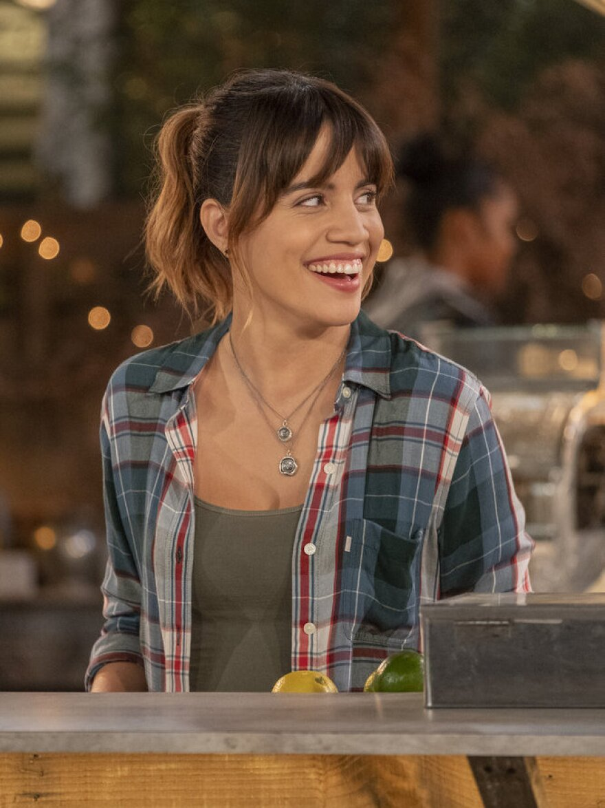 In <em>Abby's</em>, Natalie Morales plays the titular bartender — whose establishment is run out of her own backyard.