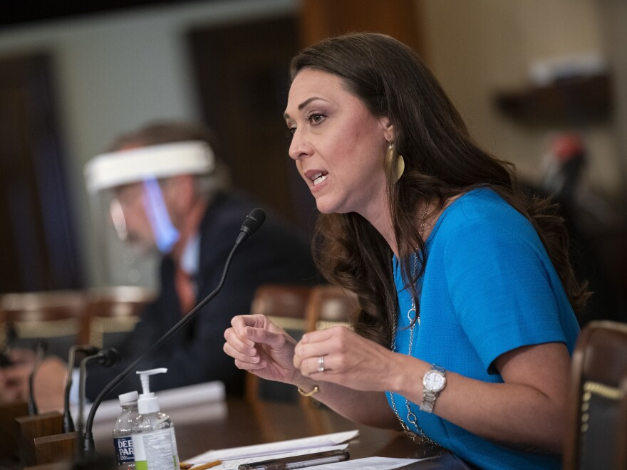 Rep. Jaime Herrera Beutler, R-Wash., speaks during a House Appropriations Subcommittee hearing on June 4, 2020. Impeachment managers sought to depose Herrera Beutler in former President Trump's impeachment trial, but later reached a deal to avoid witnesses.