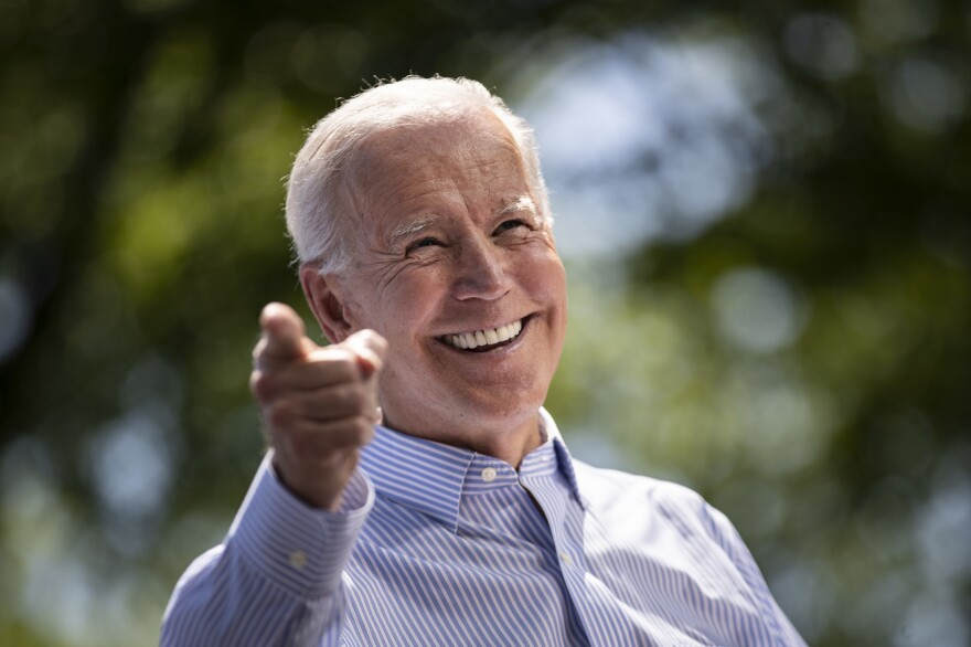 Former Vice President Joe Biden speaks during a campaign kickoff rally on May 18, 2019 in Philadelphia. For the first time in a decade, Wall Street's deep-pocketed donors are giving more money to Democrats than Republicans.