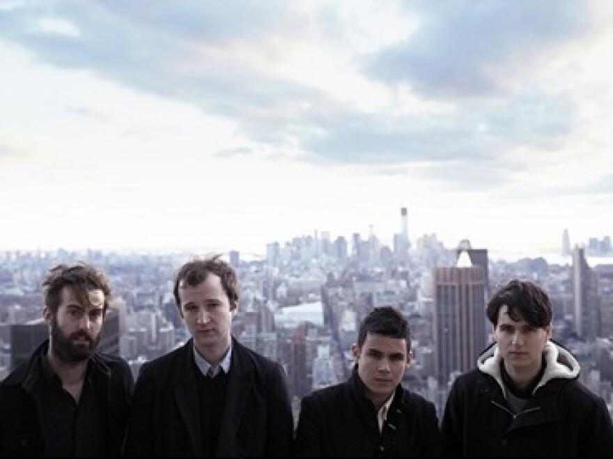 Vampire Weekend (left to right: Chris Tomson, Chris Baio, Rostam Batmanglij, Ezra Koenig) met while they were all students at Columbia University.
