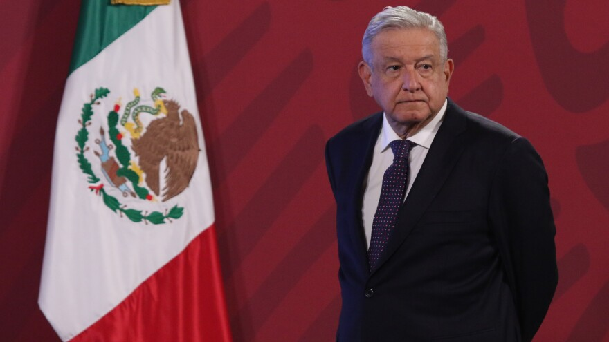 Mexican President Andrés Manuel López Obrador, here last week in Mexico City, joins a small group of foreign leaders who have remained silent after Joe Biden's election win.