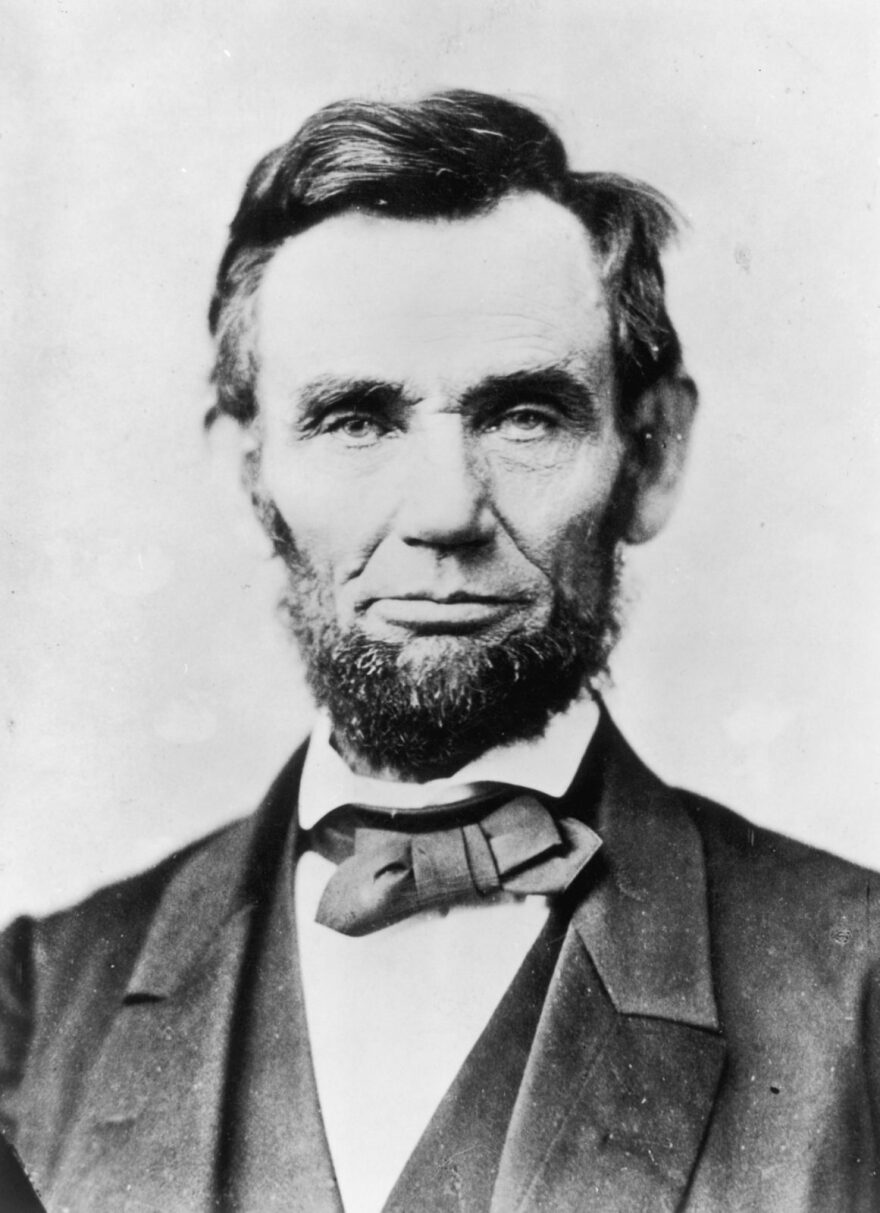 Abraham Lincoln, (1809 - 1865), the 16th President of the United States of America.