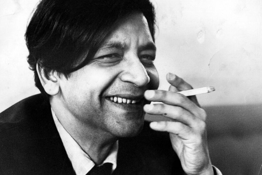 "V.S. Naipaul, seen here in 1968, once told NPR, ""It's important to avoid the wallow. It repels the reader."""