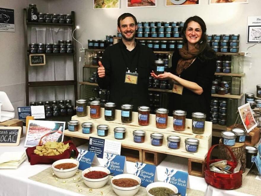 Kern and Heifetz set up shop at Juneau's public market.