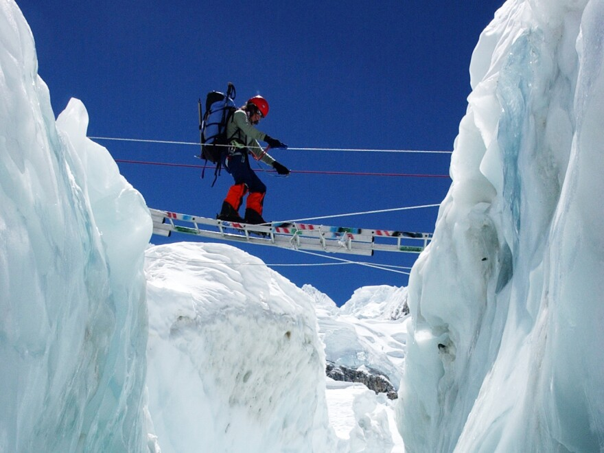 Alison Levine, a member of the Seven Summits Club, led an all-female expedition up Everest in 2002.